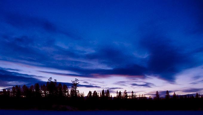 daybreak across the lake